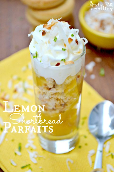 Lemon Shortbread Parfaits - quick, easy, and sure to impress!