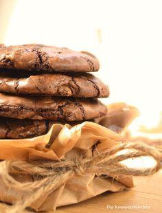 Saftige Schoko Brownie Cookies | Das Knusperstübchen