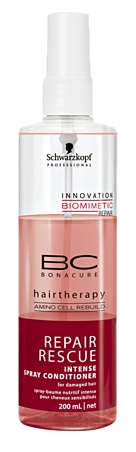 Schwarzkopf Professional Bonacure Repair Rescue Intense Spray Conditioner - Tanya O'Dea and her sister Sam love it #feelunique http://pinterest.com/toscahairbeauty/ www.toscasalon.com  https://www.facebook.com/ToscaHairAndBeauty#!/ToscaHairAndBeauty