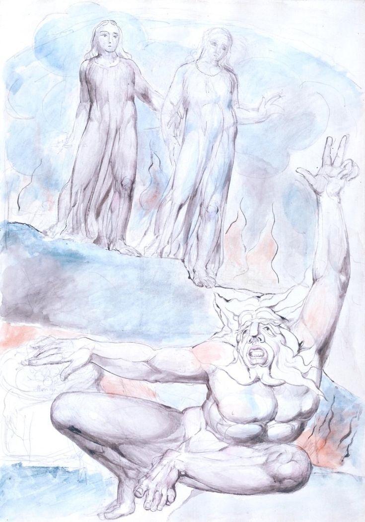 Уильям Блейк. Иллюстрации к «Божественной комедии» Данте. «Ад» . Обсуждение на LiveInternet - Российский Сервис Онлайн-Дневников