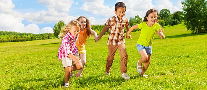 5 Fun Running Games for Kids! If you're hosting a group of kids, help them burn off some energy and keep them happily entertained. Try these running games for kids. They're great exercise, too!