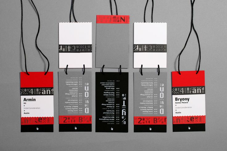 New Logo and Identity for 2014 Brand New Conference by UnderConsideration - conference badges