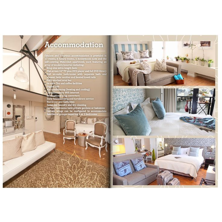 Brochure Layout for The Turbine Boutique Hotel & Spa