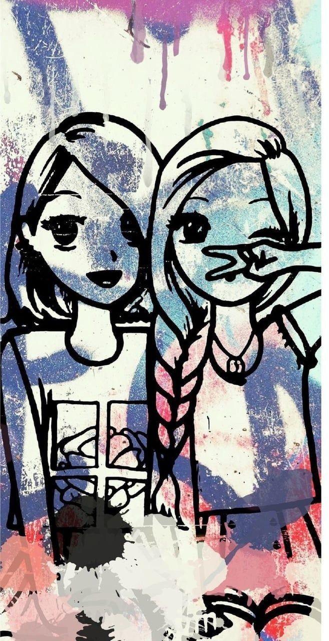 Best Friends Wallpaper Best Friend Wallpaper Friends Sketch Friends Wallpaper