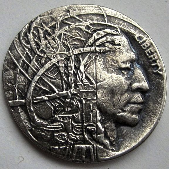 American bison nickel with penis