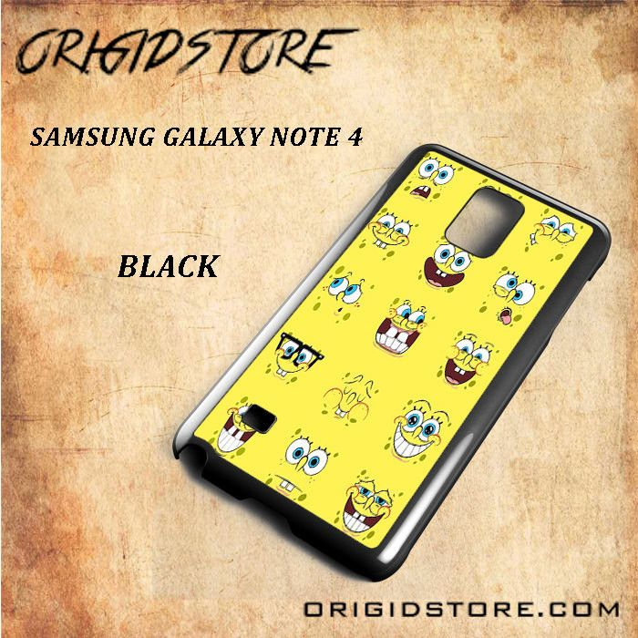 All Expression Of Spongebob Squarepants For Samsung Galaxy Note 4 Snap On and 3D Case