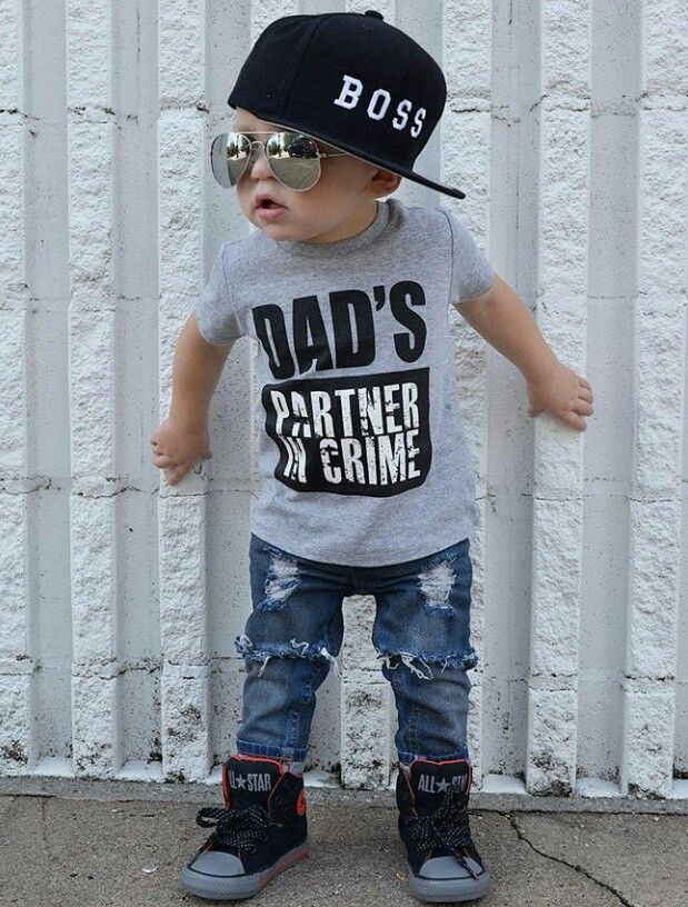 eb777809fb80 dad s partner in crime tshirt for baby - soooo adorable