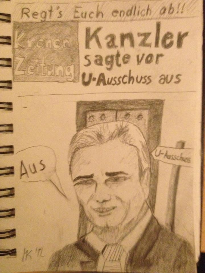 Das Cover der #Krone von morgen? 'Regt's euch endlich ab!!! Kanzler sagt ja eh vor U-Ausschuss aus' #Faymann #uausschuss