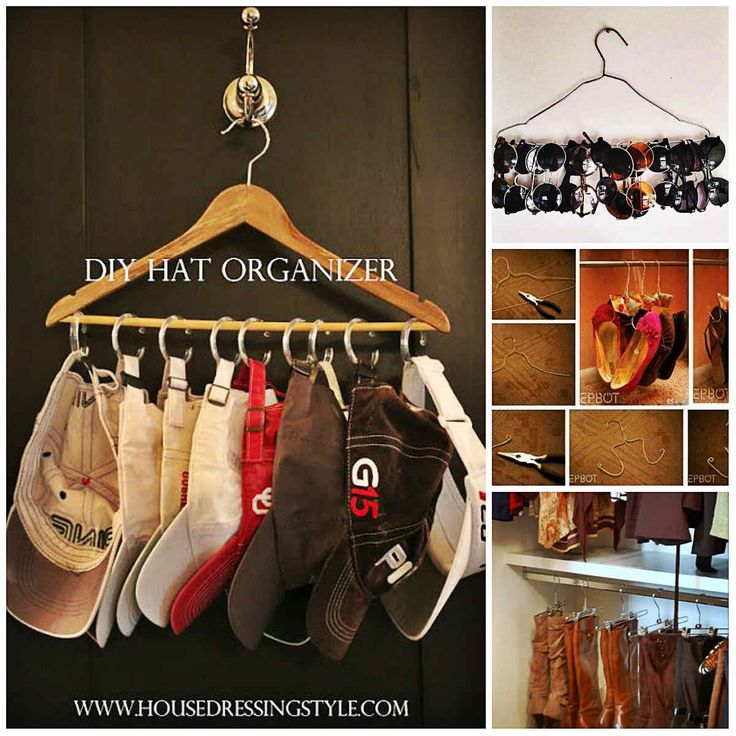 Household organization ideas creative ways using clothes for Creative clothes hangers