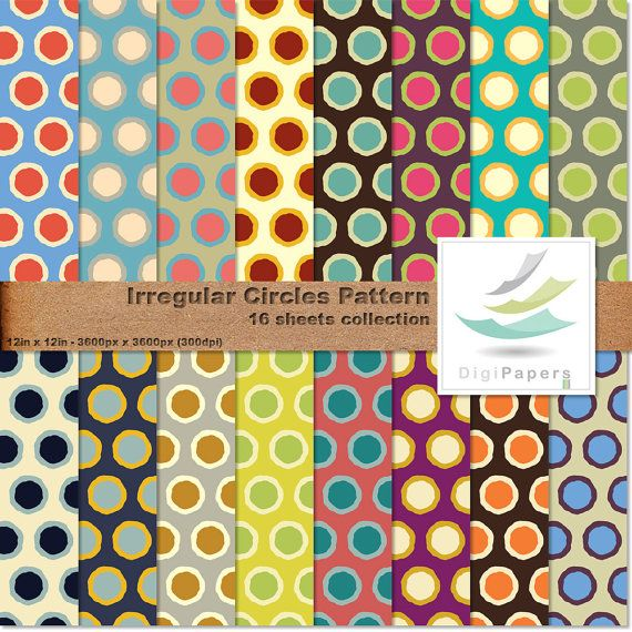 Irregular Circles Pattern by DigiPapers