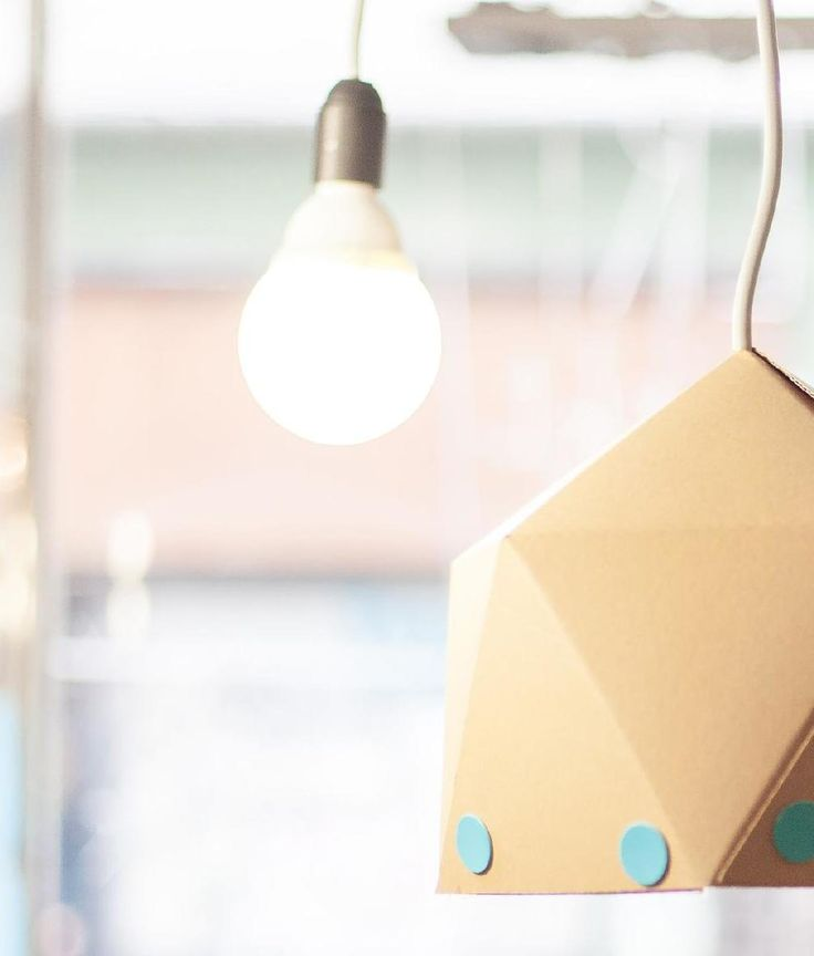 DIY paper lamp-shell by Pin magazin  2014 autumn - No. 9