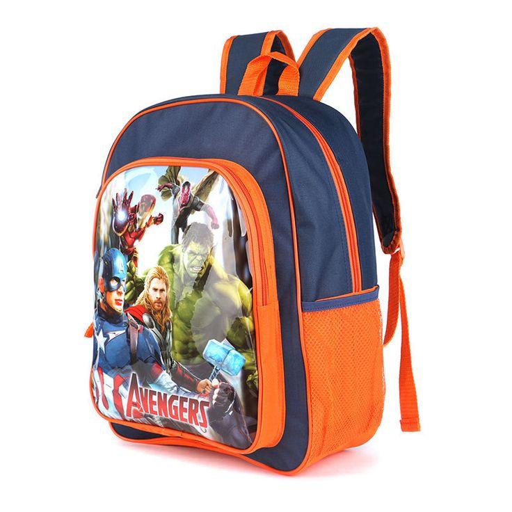 The Avengers school Backpacks Cartoon Children Bags  superhero backpack #Unbranded