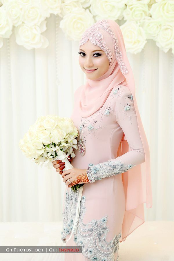 Baju Nikah Chiffon Beaded - Google Search | Ideas | Pinterest | A Dress Pink And Chiffon