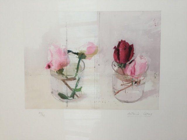 Antonio Lopez Garcia - Rosas de invierno en Galería la Aurora