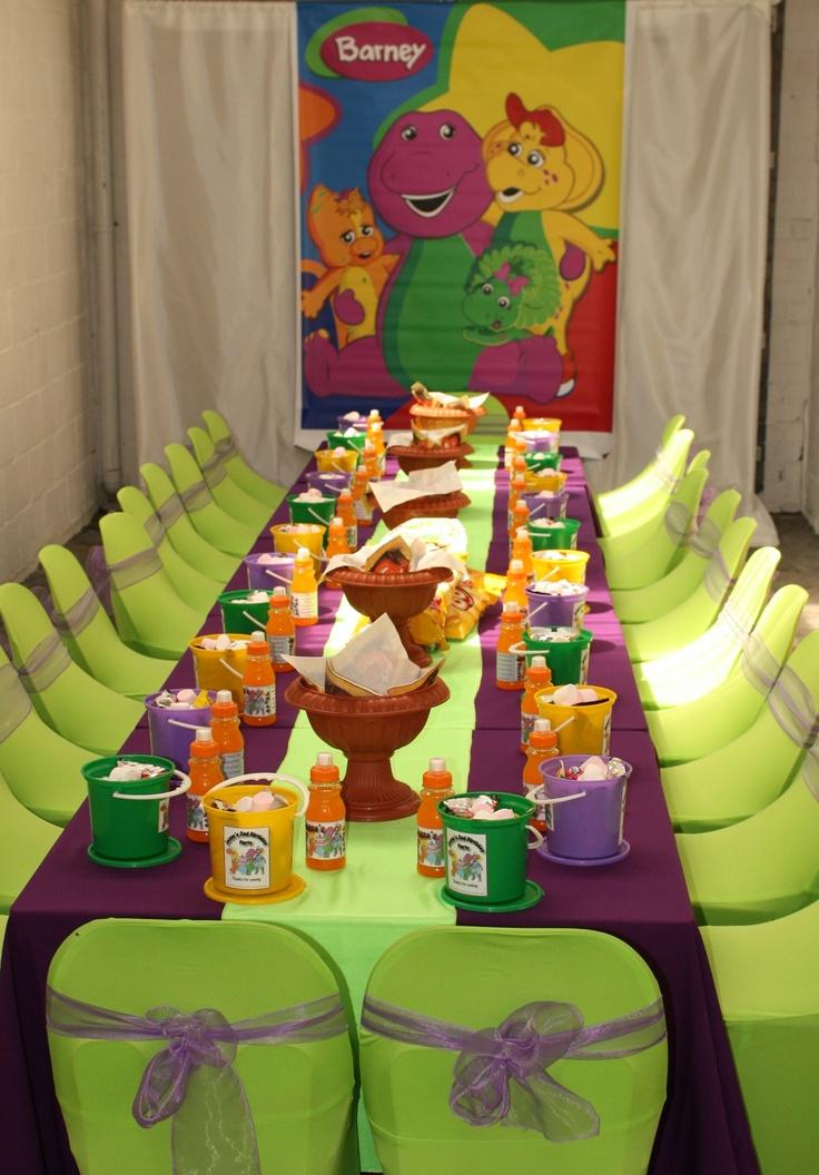 Barney Theme Party Kids Zone Barney Party Barney