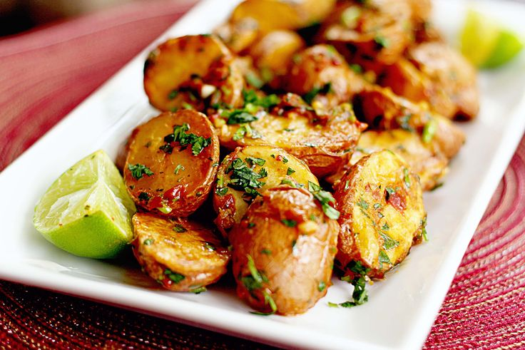 My FAVORITE summer side dish: chipotle lime roasted potatoes.