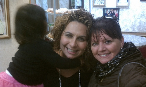 Me and Buddy Valastro's sister Lisa at Carlo's Bakery.