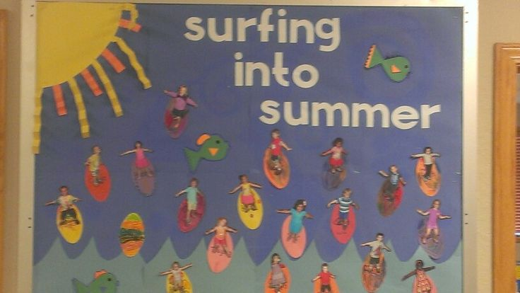 Summer surfing bulletin board