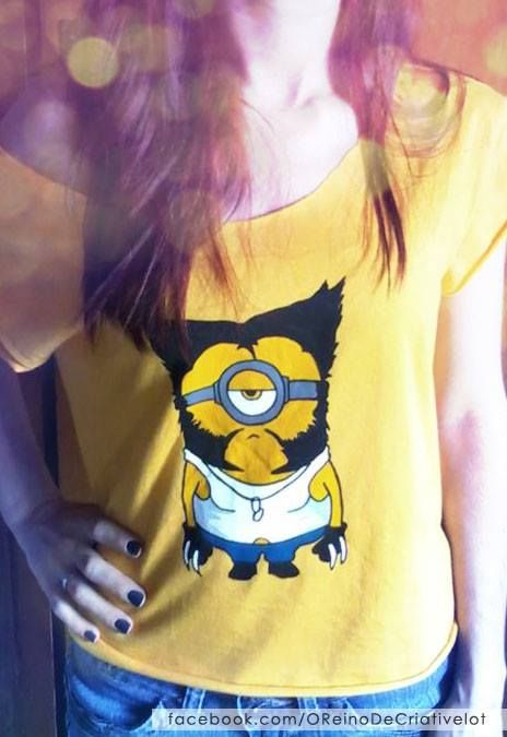 Camiseta Minion pintada á mão