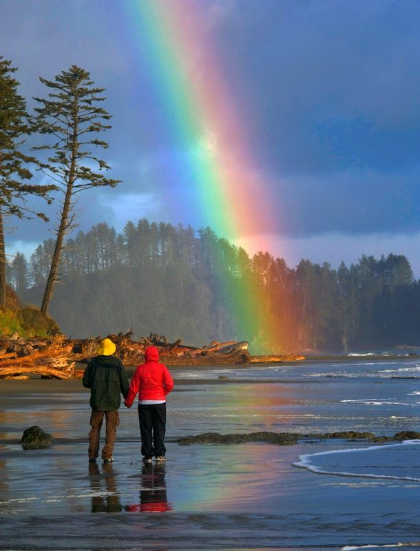 Somewhere Over the Rainbow - Olympia National Park, Washington