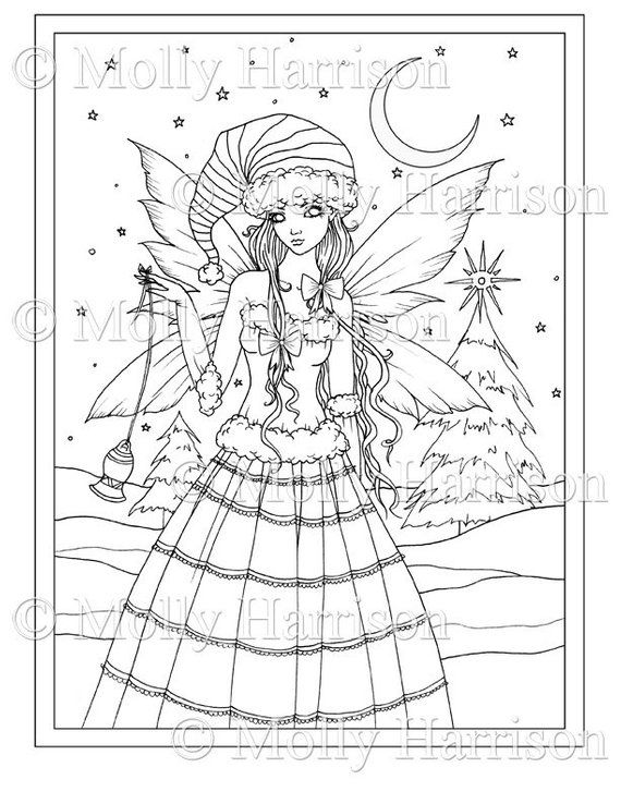 Pin On Molly Harrison Mythical Beings Uncolored Colored