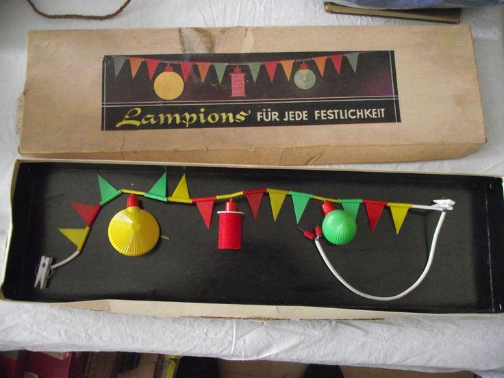 Lichterkette Lampionkette für Puppenstube oder Puppenhaus in OVP Lampions