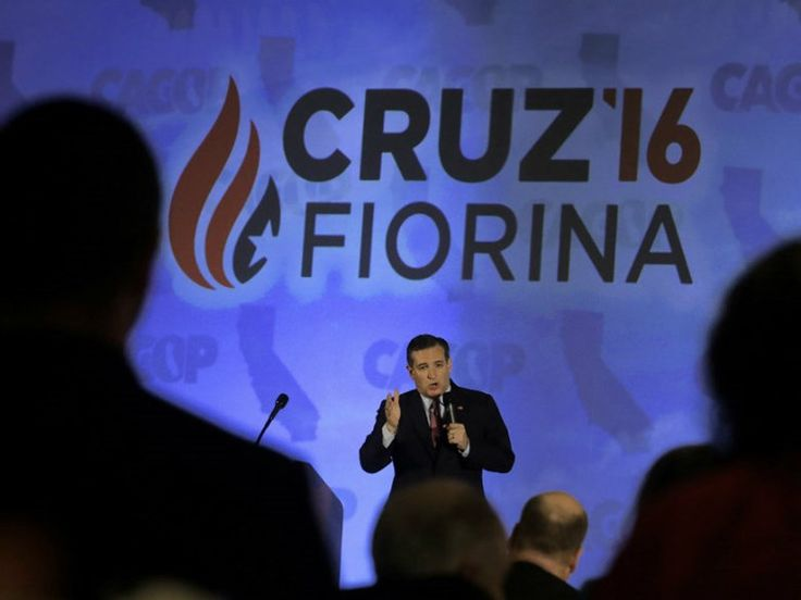 Republican presidential candidate Ted Cruz speaks at the California Republican Party 2016 Convention in Burlingame, Calif., Saturday, April 30, 2016.