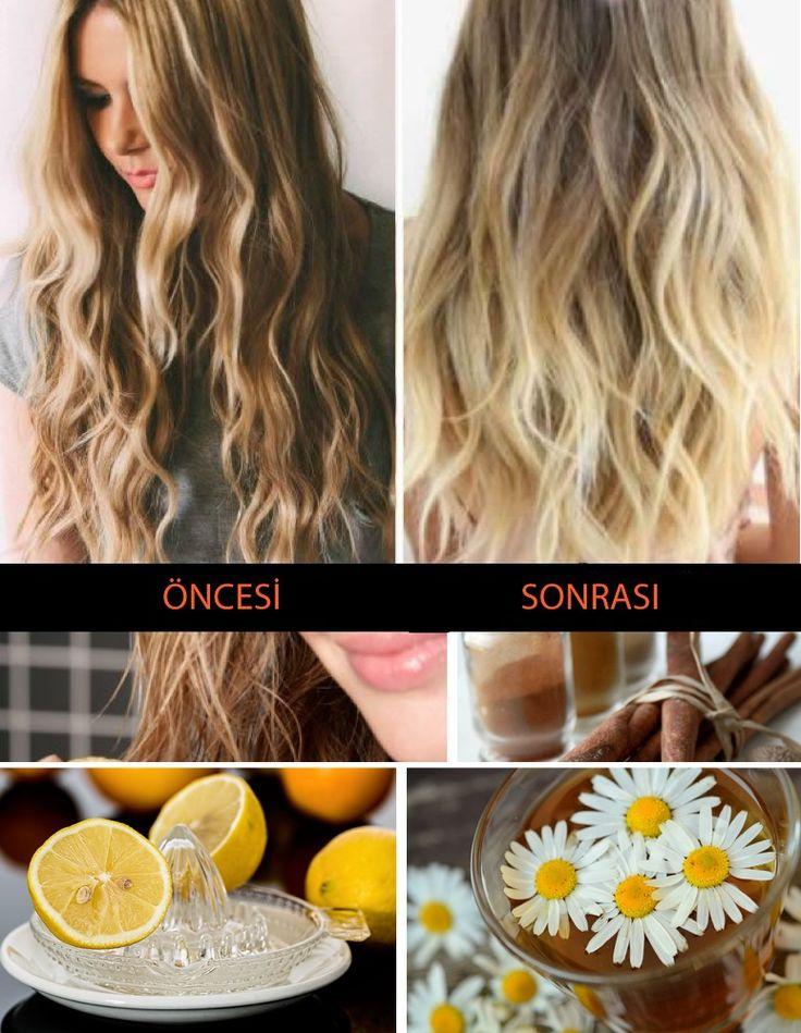 Boyalı saç rengini açma yöntemleri, koyu saç rengini açmak için doğal y…