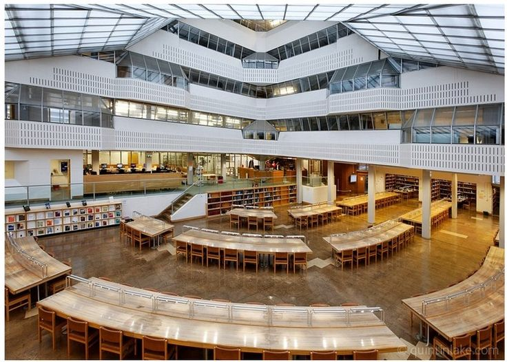 Interior Of The History Faculty Building Cambridge University James Stirling A