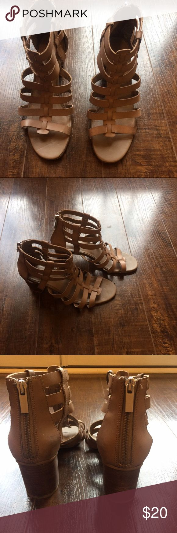BCBGeneration Reegan Brown Sandal BCBGeneration leather brown sandals. Only worn couple of times. Great sandal to edge up any outfit. BCBGeneration Shoes Sandals