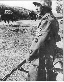 A french member of the 33rd waffen ss division charlemagne - French div 2 ...