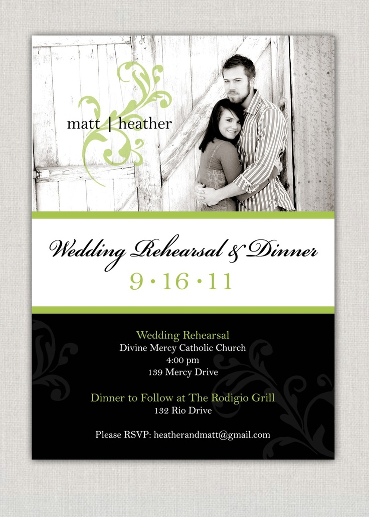 Wedding Rehearsal Dinner Invitation 27 best Rehearsal