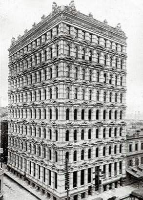 Prell's Building at 34 Queen St, Melbourne,Victoria.Built in 1890.