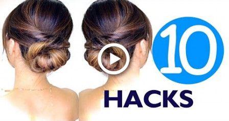 10 LAZY Girls Hair HACKS & Hairstyles | Hairstyle EASY!