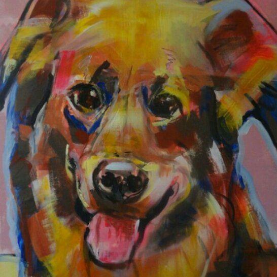 @liesbethserlie, #dogs #dog #paintings #painting #dogpaintings #hondenschilderijen #kleur #colour #color #colors #arts #contemporary #artistfeature #vtwonen #interior #interiors #gallery #galleries #commission #opdracht #kunstwerk #kunst #hond #honden  #dieren #brakel
