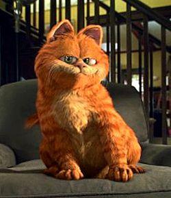 Quand j'étais jeune, j'ai toujours regardé le film, Garfield! Garfield était mon préféré film.