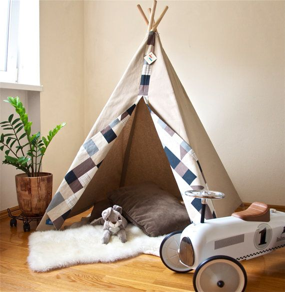 Childrens teepee teepee kids teepee teepee tent by MyHappyTeepee | Munchkins | Pinterest | Teepee kids Childrens teepee and Kids teepee tent : kid toddler tent - memphite.com