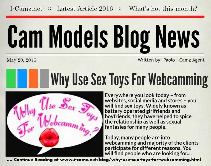 "LATEST www.i-camz.net WEBCAM MODELS BLOG NEWS - Check ""Why Use Sex Toys For Webcamming?"" - http://go.shr.lc/1RhnmrP - Why Use Sex Toys For Webcamming? To make that real connection with the client, earn more money and have many clients in your chat room. #sextoys #cammodels #camjobs‬"