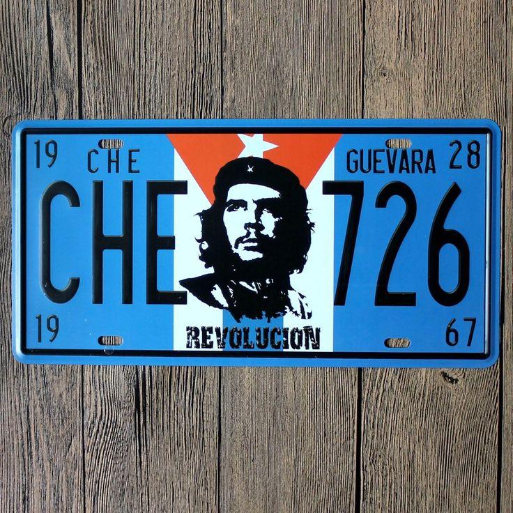 15x30 cm старинные номерные знаки че гевара 726 революция ретро железный живопись стикер номерного знака корабля металла ДЕКОР