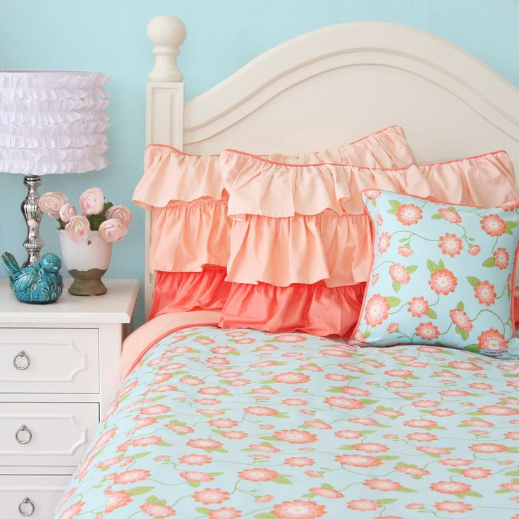 25 Best Ideas About Peach Bedroom On Pinterest: 25+ Best Ideas About Coral And Turquoise Bedding On