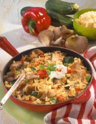 Sauerkraut-Pfanne mit Austernpilzen Rezept