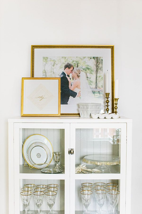 Cocktail napkin in our Richmond frame and wedding portrait in our Georgetown frame | Via @iloveswmag
