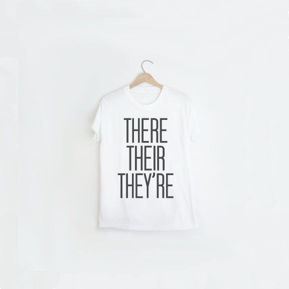Mens White T Shirt | Grammar Police Mens Tee | There Their They're T Shirt | Gift for Teacher | Black and White Fashion | White Tee Shirt by alphonnsine on Etsy https://www.etsy.com/listing/215119948/mens-white-t-shirt-grammar-police-mens