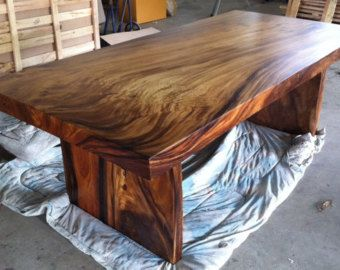 Live Edge Dining Or Conference Table Acacia Wood Live Edge
