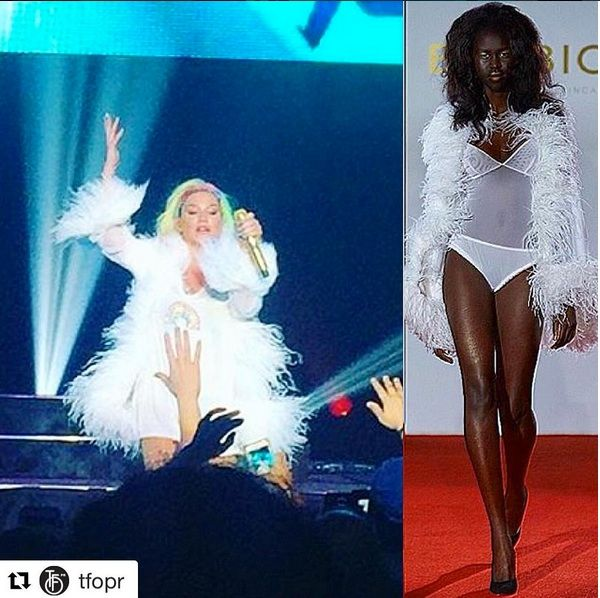 KESHA wears our Giselle robe as she performs a tribute to Orlando…
