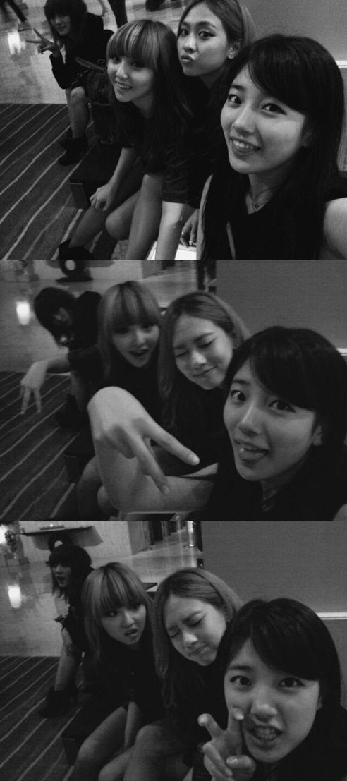 Suzy updates fans with group photos of miss A #allkpop #kpop #missA