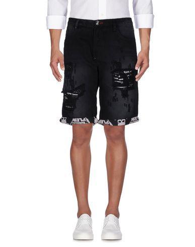 PHILIPP PLEIN Denim shorts. #philippplein #cloth #top #pant #coat #jacket #short #beachwear