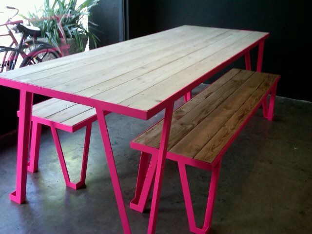 la-based knibb design's picnic table and benches