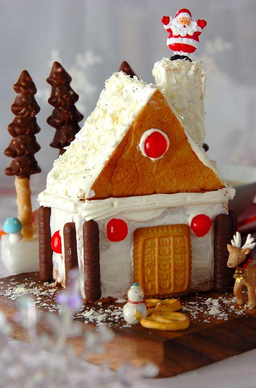 食パンで作るクリスマスケーキ! #クリスマス #recipe #Christmas #cake