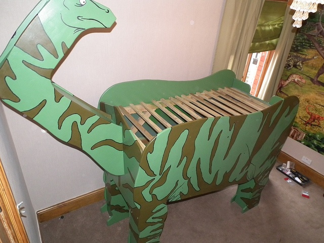 Dinosaur Bed Dinosaur Themed Bedroom Decor Pinterest
